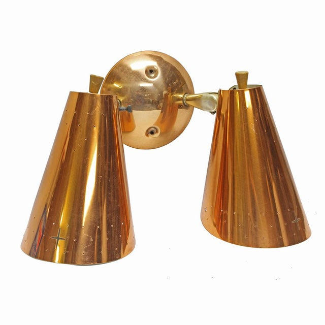 Image of Mid-Century Modern Copper Sconce