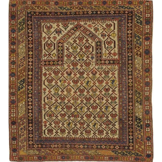 "Pasargad NY Antique Russian Shirvan Hand-Spun Wool Pile Rug - 3'11"" x 4'3"""