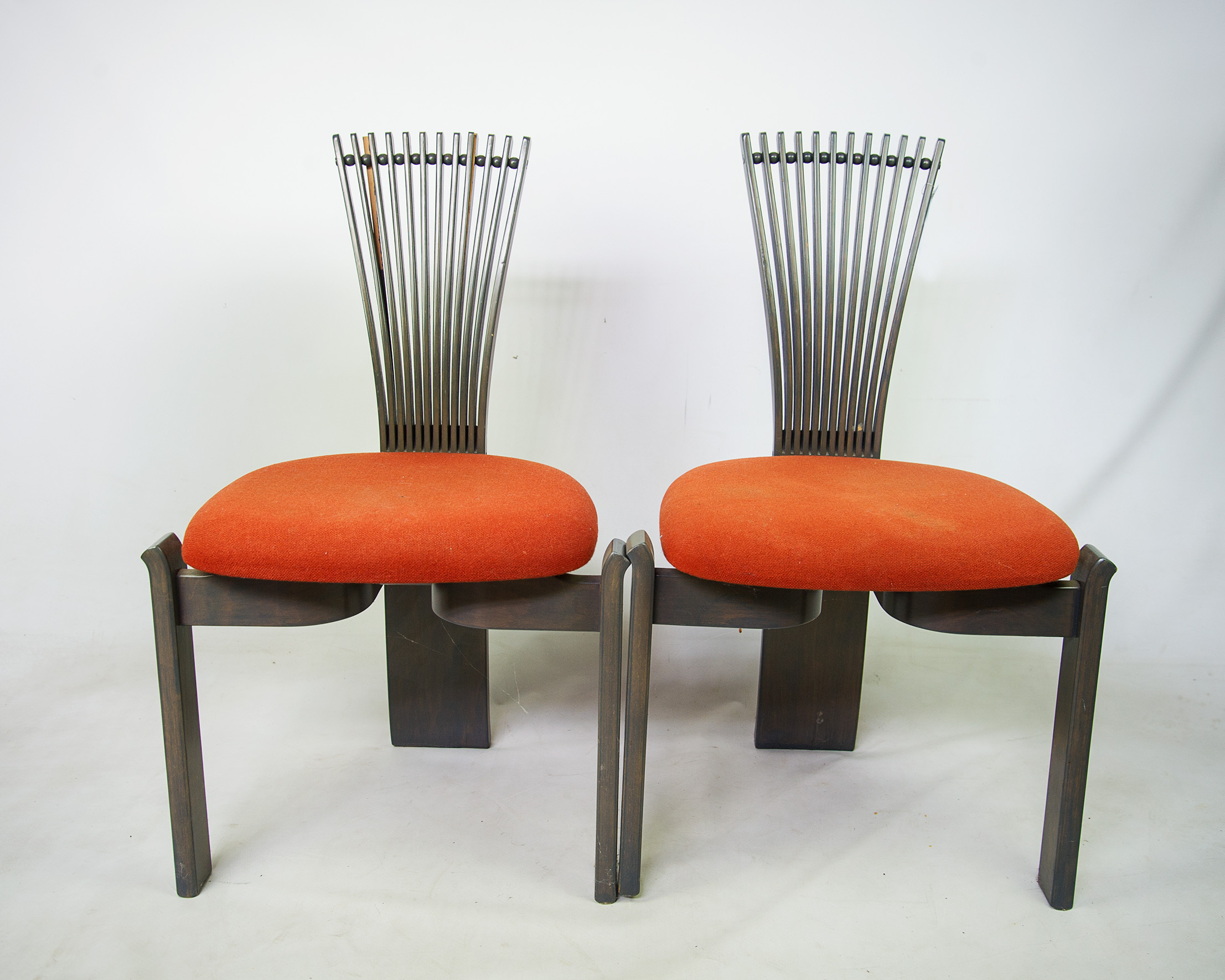 Danish Modern Fan Back Dining Chairs   Set Of 6   Image 3 Of 11