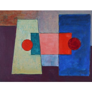 2008 Dave Fox Geometric Abstract Painting