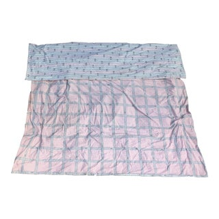 Reversible Custom Designer Hermes Fabric Coverlet
