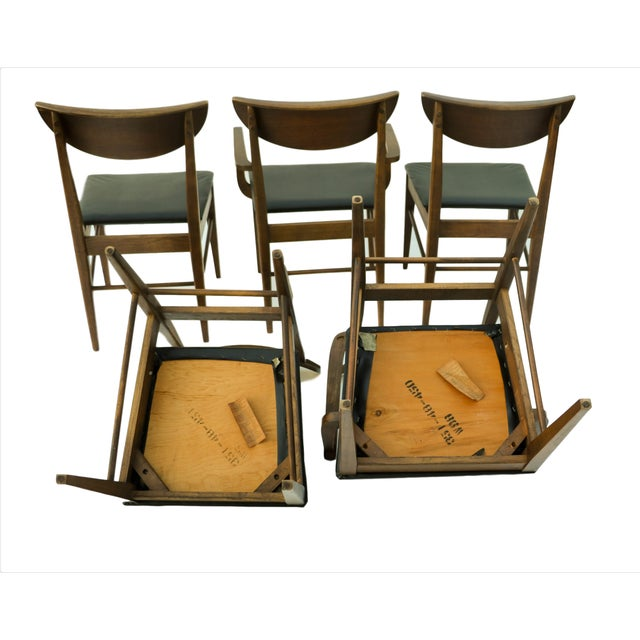 Mid Century Modern Bassett Dining Chairs - S/5 - Image 8 of 10