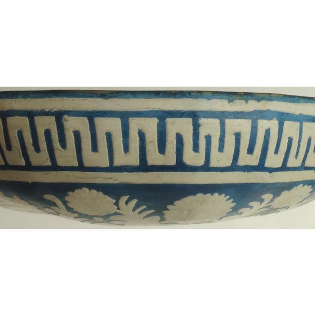 Folk Art Painted Gourd Bowl - Image 8 of 8