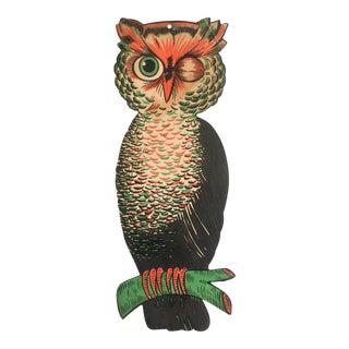 Mid Century Halloween Owl Wall Decor
