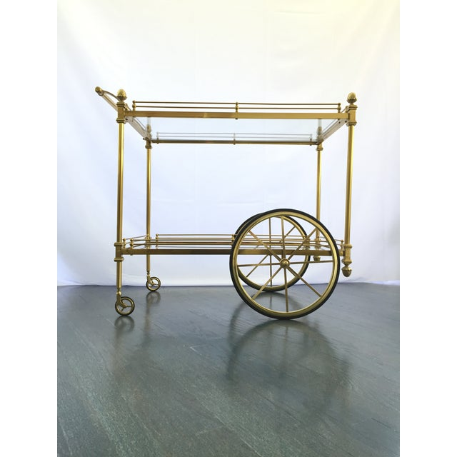 Vintage Hollywood Regency Bar Cart - Image 9 of 9
