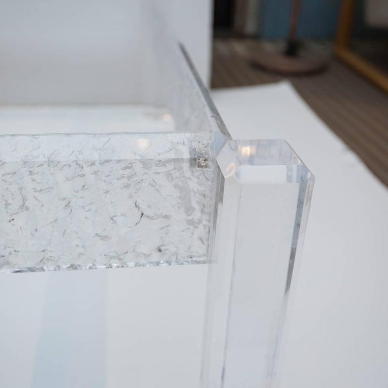Large Custom Lucite Coffee Table Base   Image 10 Of 10