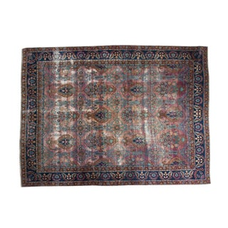 "Persian Distressed Yezd Carpet - 8'6"" x 11'5"""