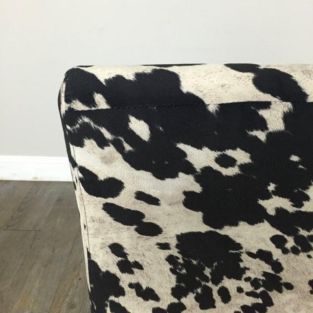Black & White Cowhide Loveseat - Image 11 of 11