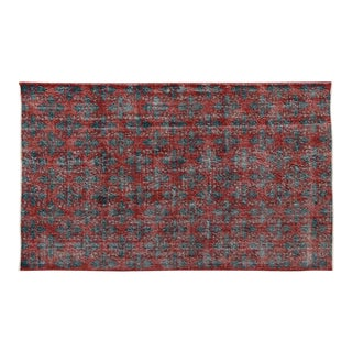 Zeki Muren Distressed Vintage Turkish Sivas Rug - 5′6″ × 9′
