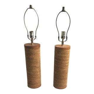 Gregory Van Pelt Cardboard Lamps - A Pair