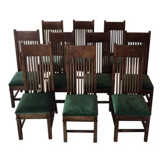 Handmade Prairie Style Dining Chairs - Set of 10