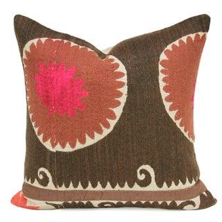 Suzani Coral Pillow