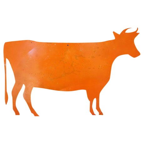 Reclaimed Metal Dairy Cow Silhouette - Image 1 of 3
