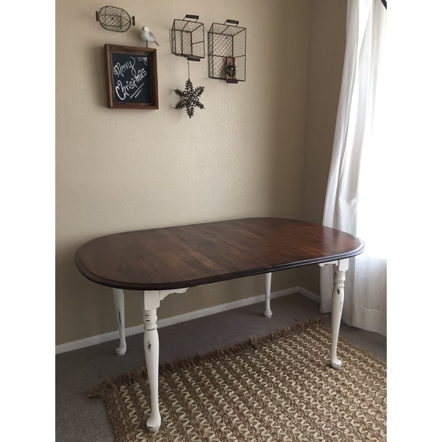 Vintage Restored Dining Table - Image 2 of 9