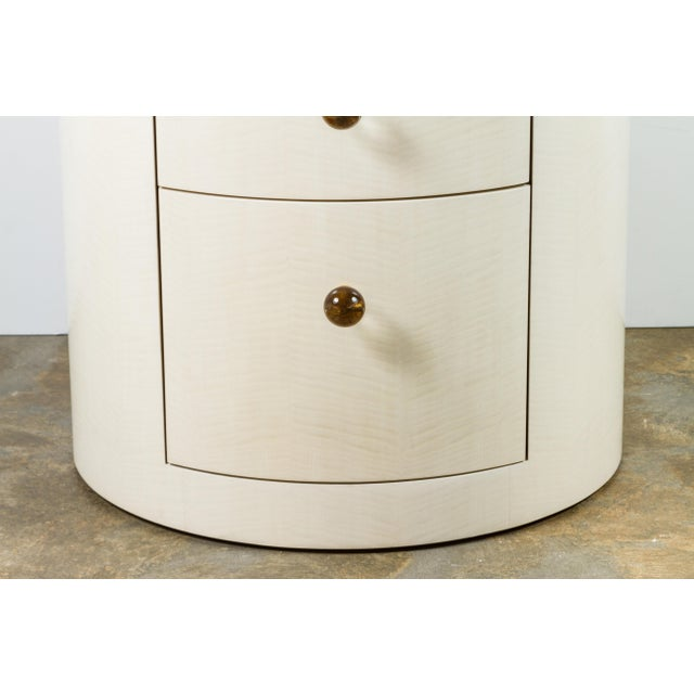 Italian-Inspired 1970s Style Round Nightstand - Image 4 of 8