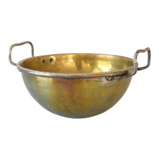 French Antique Brass Mixing Bowl