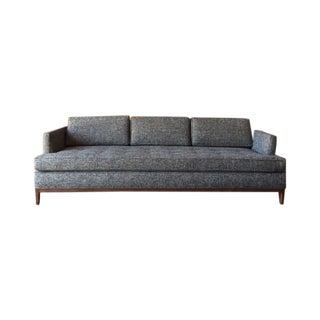 Mid-Century Style Custom Gray Sofa