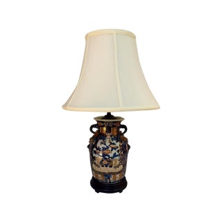 Dragon Motif Asian Lamp