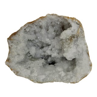White Crystal Geode Specimen