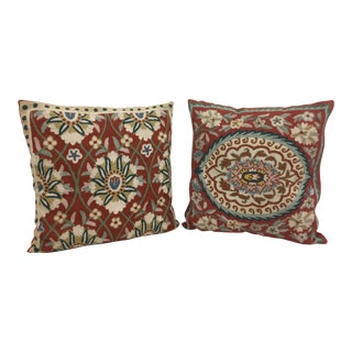 Handmade Cruelle Throw Pillows - A Pair