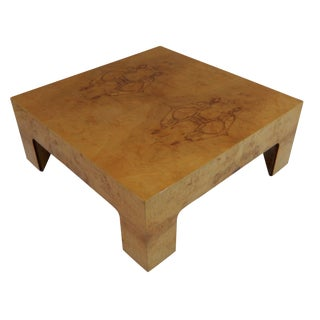 Mid-Century Burl Wood Coffee Table