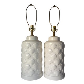Ceramic Shell Lamps - A Pair