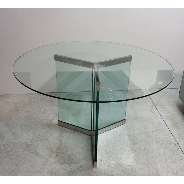 Pace Round Chrome & Glass Dining Table - Image 6 of 6