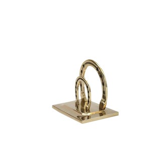 Lucky Horseshoe Brass Mail Holder