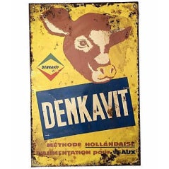 Dutch Denkavit Animal Feed Sign