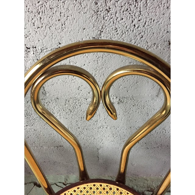 Gold Chrome Bar Stools In The Style of Michael Thonet- Set of 3 - Image 6 of 11