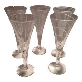 Vintage Mikasa Crystal Aperitif Glasses - Set of 5