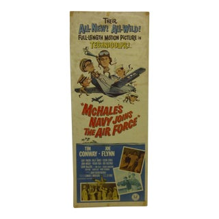 """Vintage """"Mchales Navy Joins the Air Force"""" 1965 Movie Poster"""