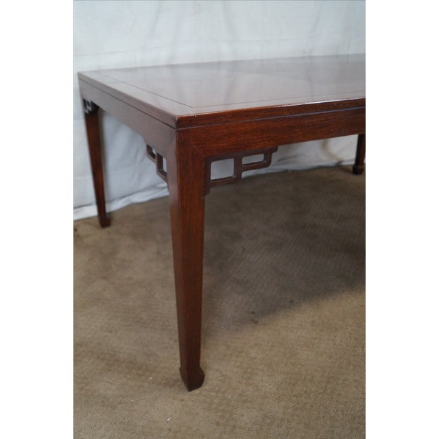 Baker Far East Collection Mahogany Dining Table - Image 3 of 10
