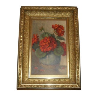 Floral Print in Antique Gilt Frame