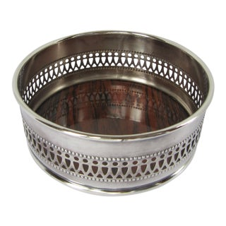 Vintage Silverplate Wine Coaster