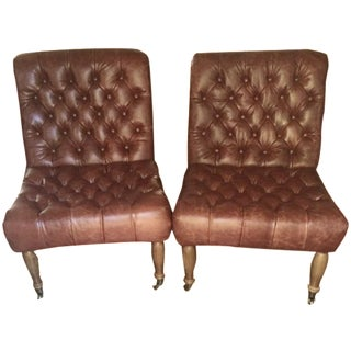 Pottery Barn Carolyn Tufted Chairs - A Pair