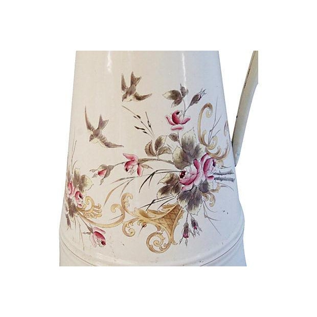 Vintage 1930s French Hand-Painted Floral Pitcher - Image 6 of 7