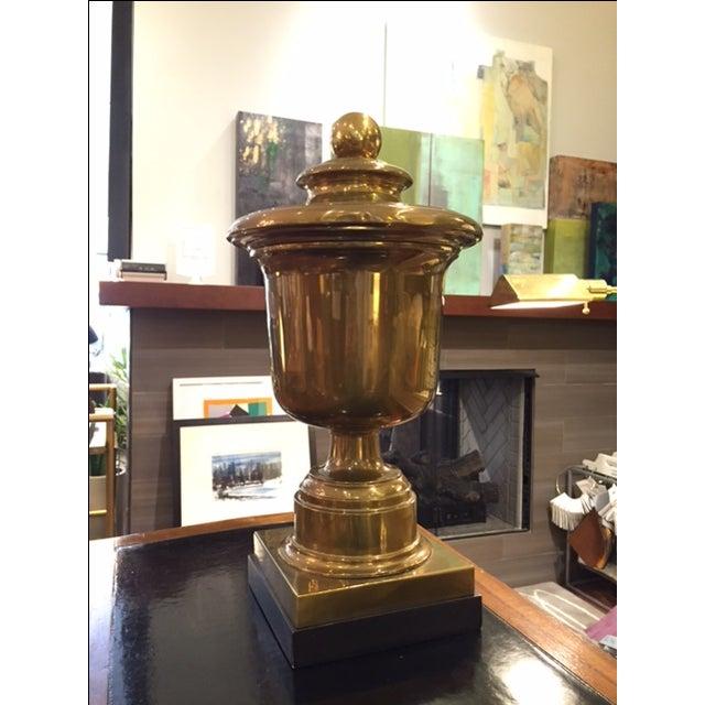 Vintage Monumental Chapman Brass Urn on Base - Image 2 of 7