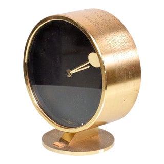 Mid-Century Modern Howard Miller Brass Table Clock