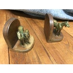 Image of Wood & Metal Horse Bookends- A Pair