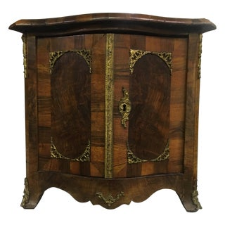 Antique Miniature French Walnut Two-Door Cabinet