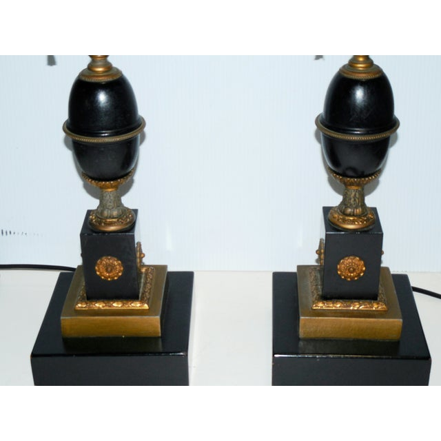 Antique Empire Style Lamps - Pair - Image 3 of 10