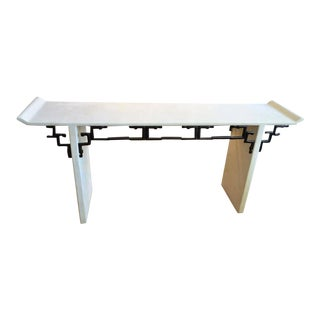 Asian Style Maitland Smith Console Table