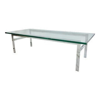 Vintage Mid-Century Modern Chrome Coffee Table