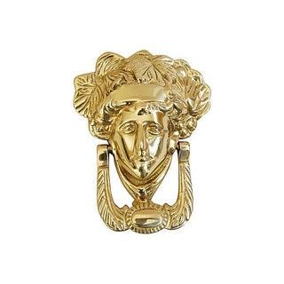 Mid-Century Brass Medusa Goddess Door Knocker