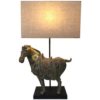 Asian Ming Horse Table Lamp