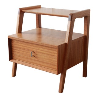Paul Laszlo for Brown Saltman Mahogany Nightstand or Side Table
