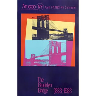 Andy Warhol Poster, The Brooklyn Bridge