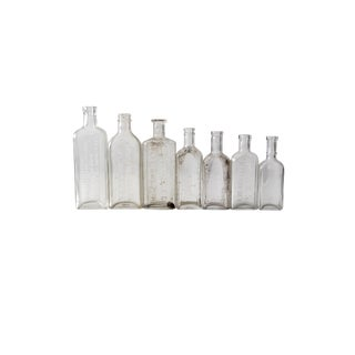 Antique Apothecary Bottle Collection 7pc