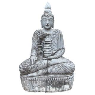 Vintage Stone Sitting Buddha